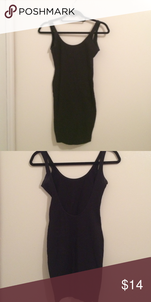 Black body con dress with low back Black body con dress with low scoop back American Apparel Dresses Mini