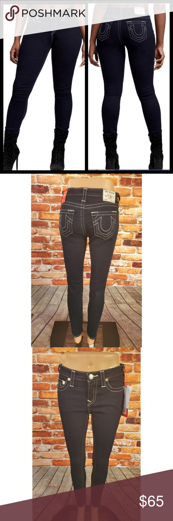 True Religion Halle Super Skinny Mid Rise Jeans 27