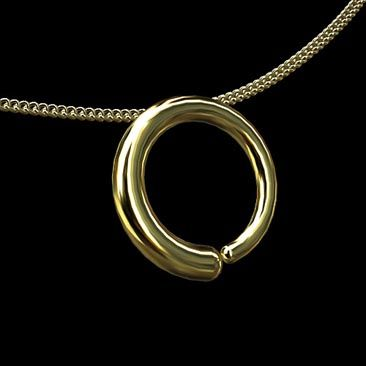 Ensho buddhist zen enlightenment circle pendant necklace solid 14k ensho buddhist zen enlightenment circle pendant necklace solid 14k gold enso is a japanese word meaning circle and a concept strongly associated with aloadofball Image collections