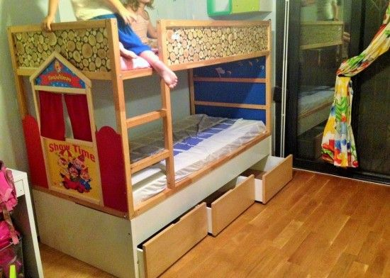 kura puppet theatre bed imagination and kura beds pinterest kinderzimmer bett und hochbett. Black Bedroom Furniture Sets. Home Design Ideas