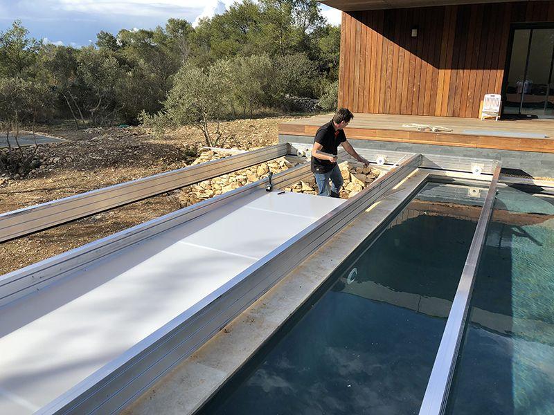 Fabriquer Une Terrasse Mobile Pour Piscine En 2020 Avec Images Terrasse Mobile Piscine Piscine Terrasse
