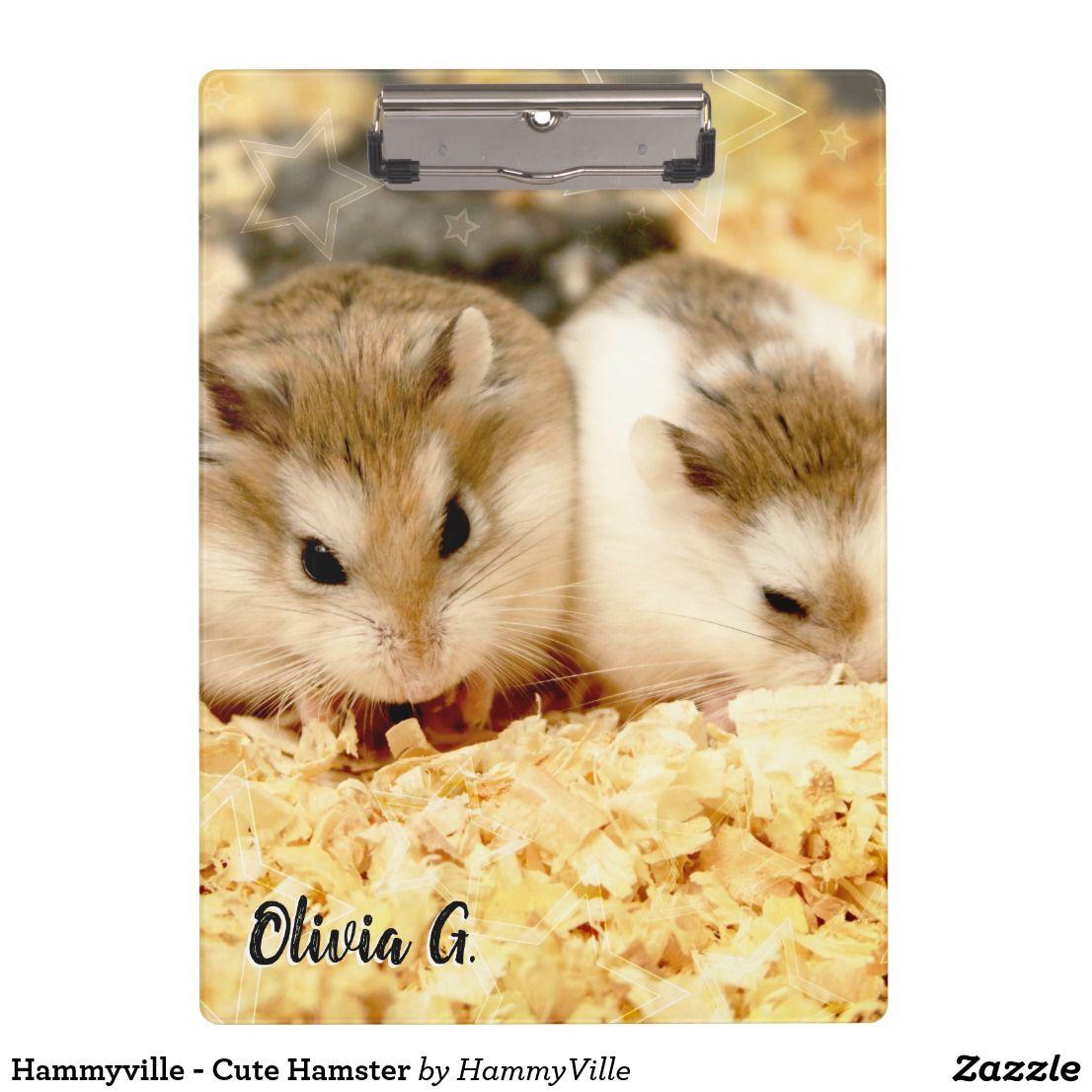 Hammyville Cute Hamster Clipboard Zazzle Com Cute Hamsters Cute Fun