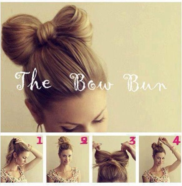 How To Bow Hair Bun Hair Bow Bun Hair Styles Long Hair Styles