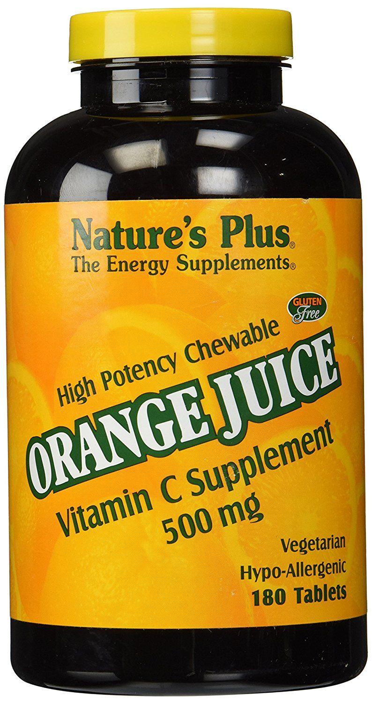 Nature's Plus Orange Juice C 500mg, Vitamin C Supplement
