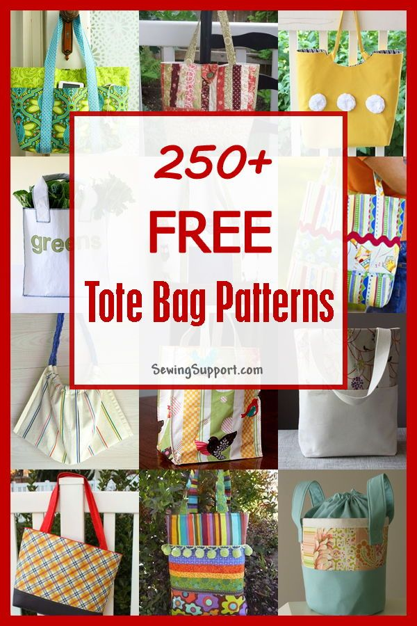 Lots Of Free Tote Bag Patterns To Sew Sewing Freepattern Bagpatterns