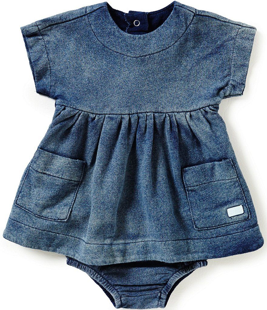 desnudo misil Manifiesto  7 For All Mankind Baby Girls Newborn-24 Months Denim-Look French Terry  Dress | Baby girl dresses, Baby girl fashion, Baby girl clothes