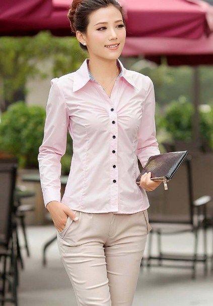 Kemeja Kerja Wanita Lengan Panjang Model baju ini bisa