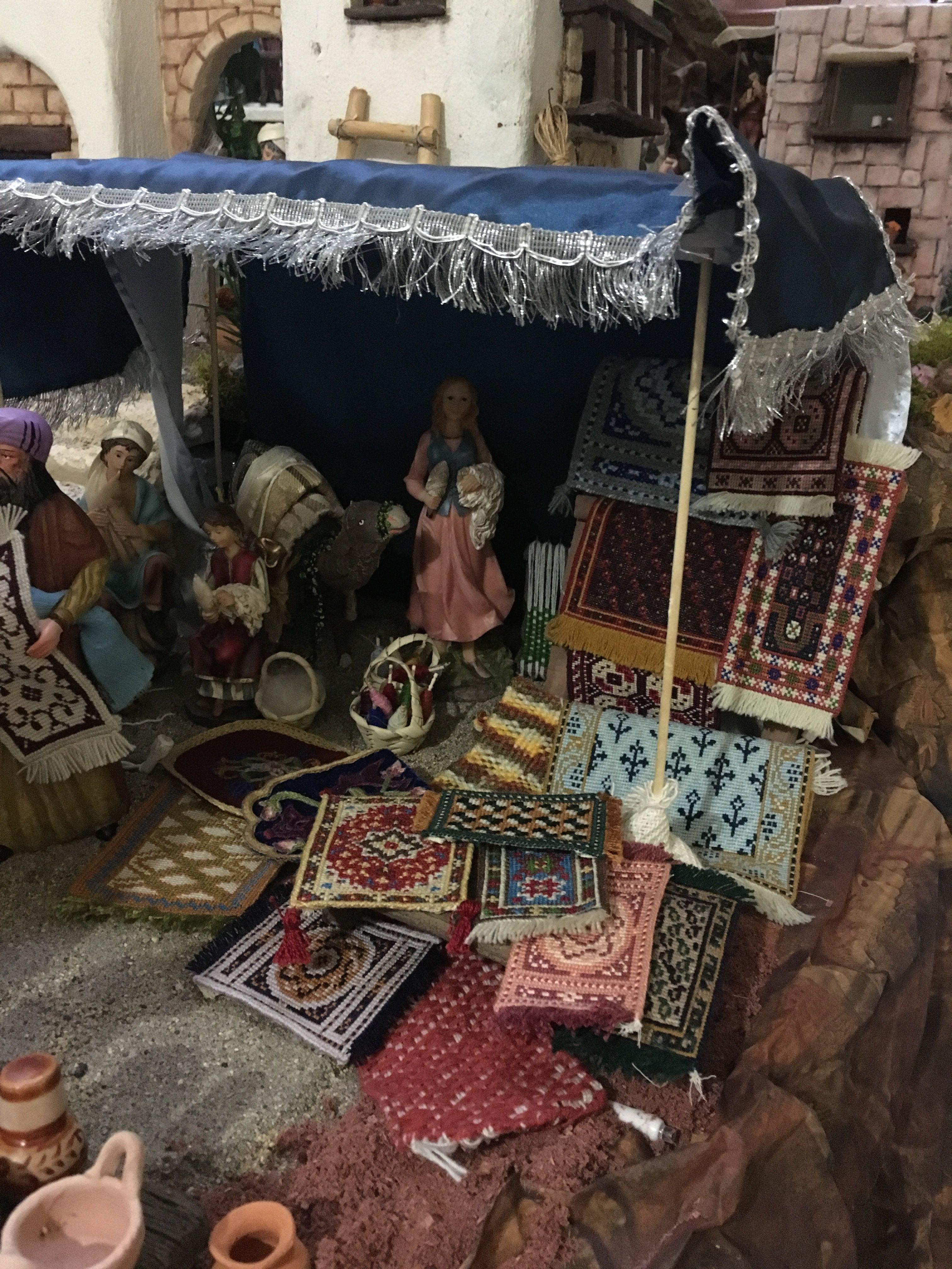Puesto de alfombras nacimiento bel n gabriela aranda 2015 for Alfombras persas en mexico