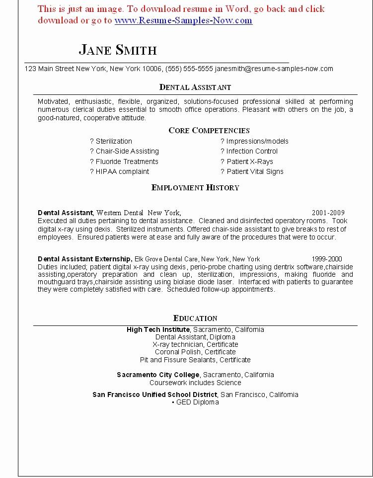 25 Entry Level Dental assistant Resume in 2020 (With
