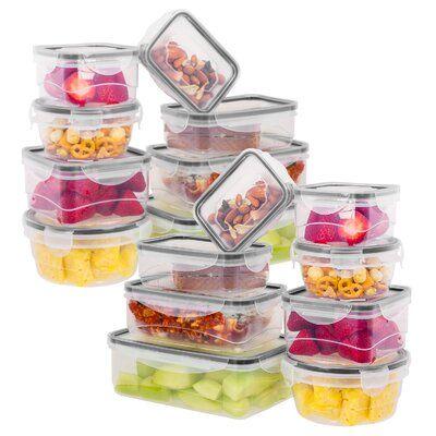 Rebrilliant Brenden Plastic 8 Container Food Storage Set Food Storage Food Plastic Food Containers