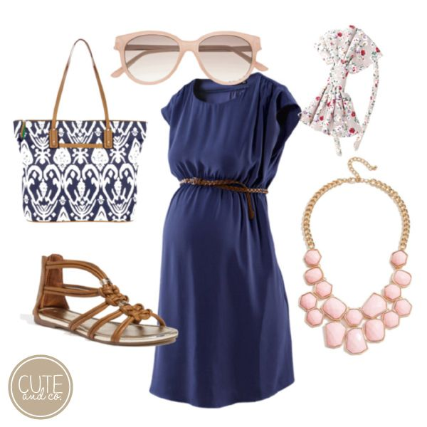 7b7b2e6a3418 Dress and sandals. What to Wear Wednesday – Cute Maternity Style ...