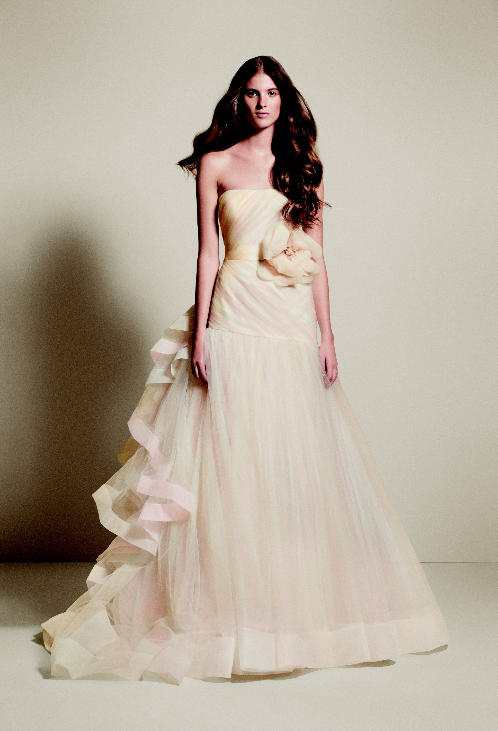 Vera wang pink wedding dress  White by Vera Wang Spring   Wedding dress and Weddings
