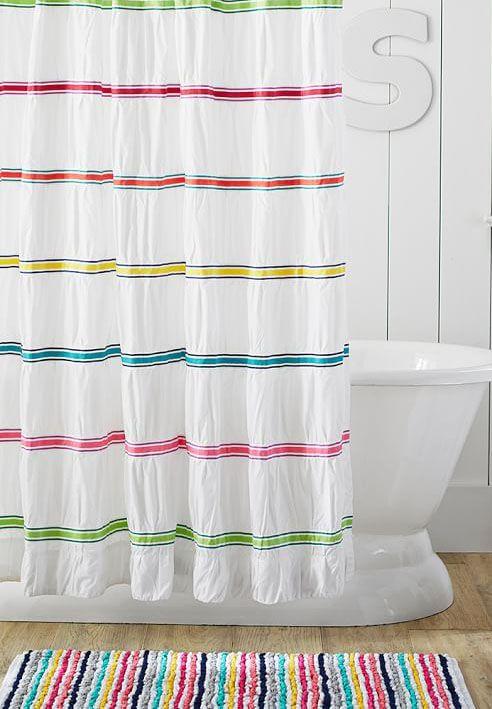 Bright Stripes Decorating Details Inspiration Bath Bathroom Bathroomideas