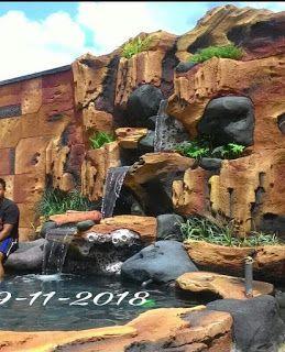 jasa tukang kolam relief tebing di jakarta   lanskap