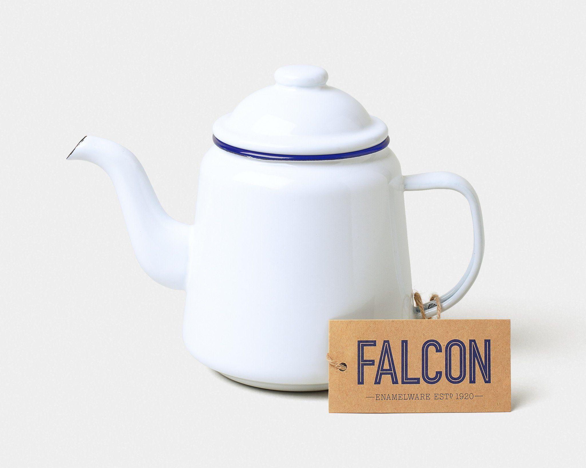 Falcon Enamelware 1L White Teapot - Trouva