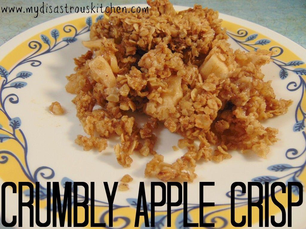 Crumbly Apple Crisp; a perfect fall recipe!