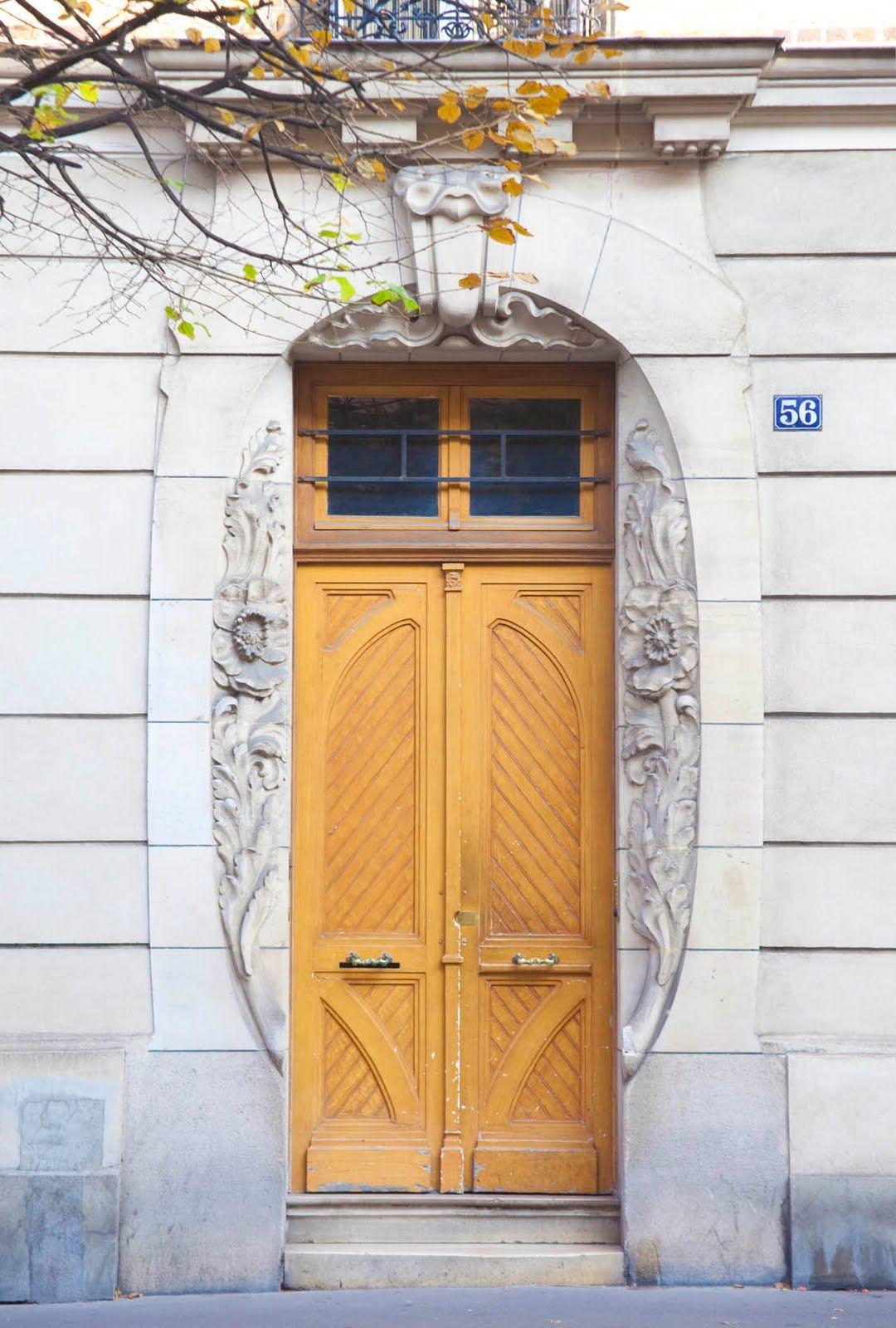 Provincial yellow door paris my door is always open