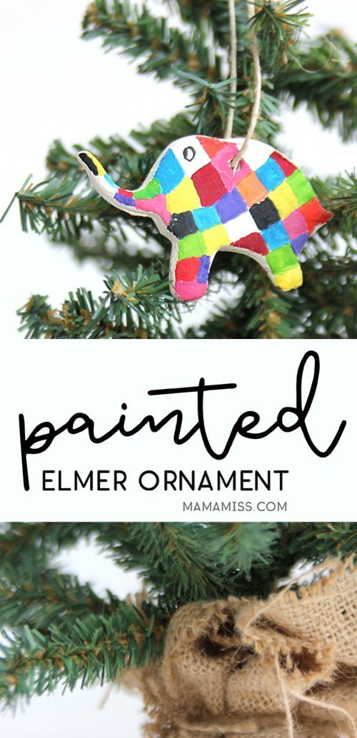 Painted Elmer Ornament - 10 Days of a Kid-Made Christmas Ornament