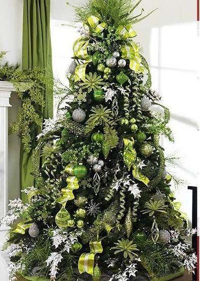 Les plus beaux sapins de Noël Divers Pinterest Christmas tree - blue and silver christmas decorationschristmas tree decorations