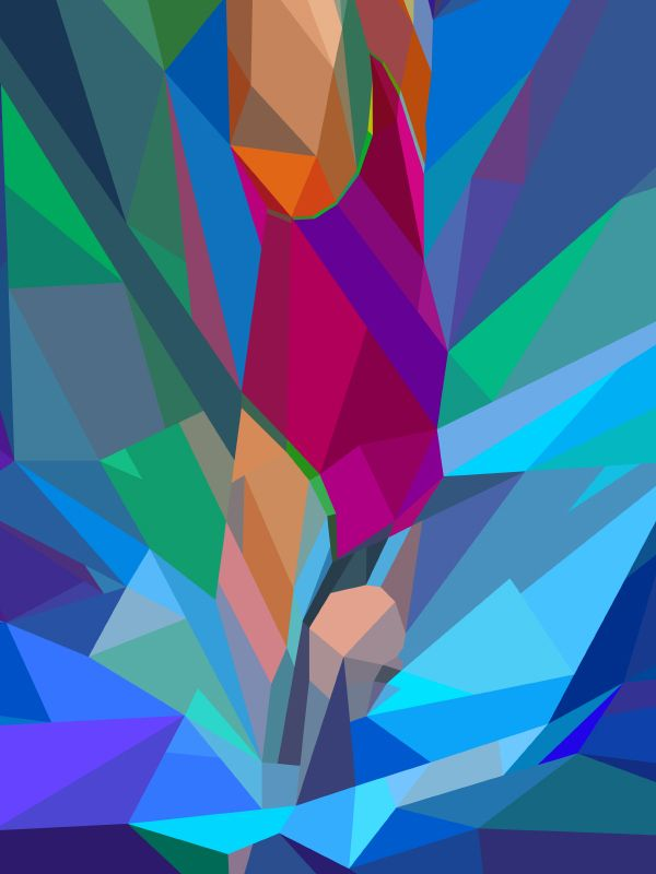Colorful Geometric Illustrations of London 2012 Olympics by Charis Tsevis