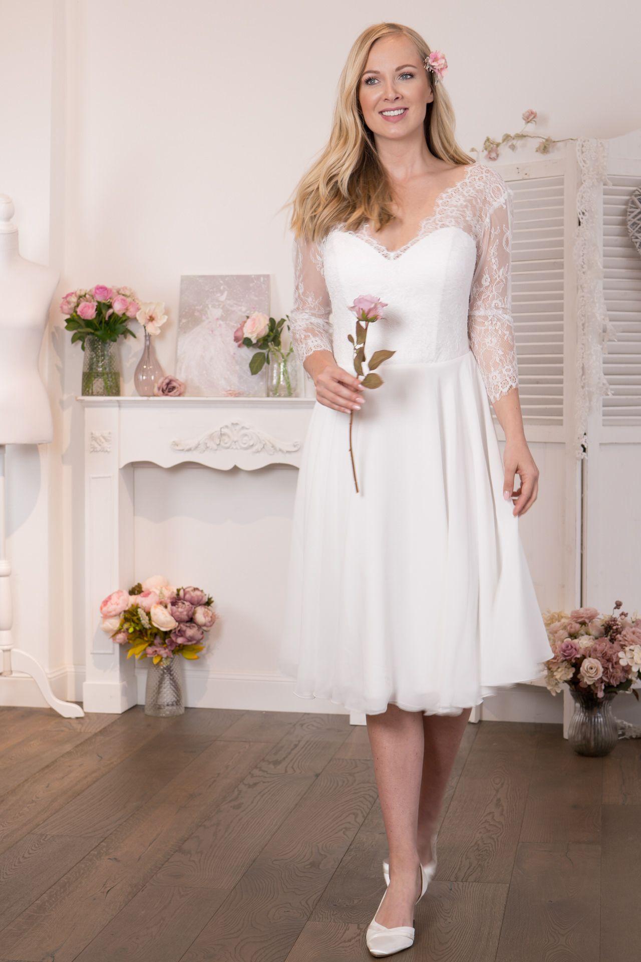 Standesamtkleider | Kleid standesamt lang ...