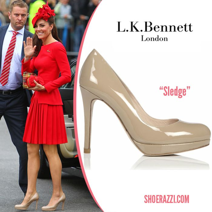 93f0a29352d Duchess of Cambridge LK Bennett Sledge Nude Pumps