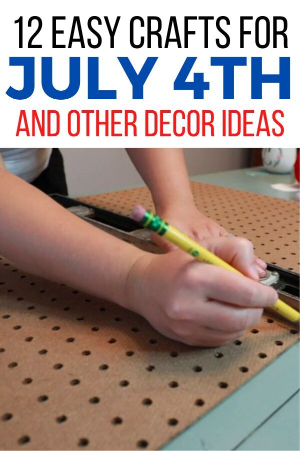 Quick July 4th fun DIY crafts you can make for your summer home decor. These patriotic decorations are easy and cheap so you can make them on a budget. #diy #july4th #crafts
