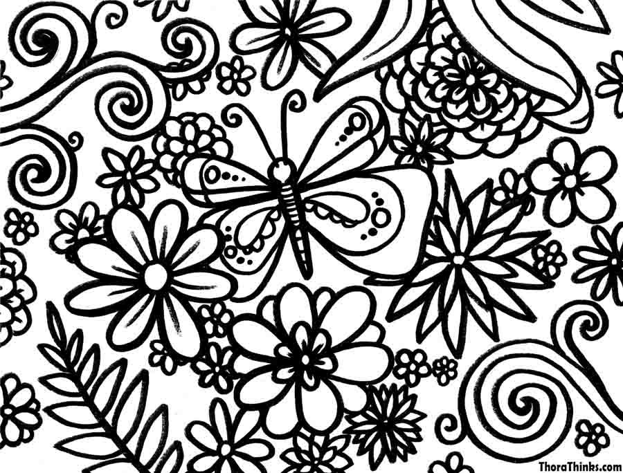 hard spring coloring pages spring coloring pages spring coloring pages for adults kids - Hard Coloring Pages