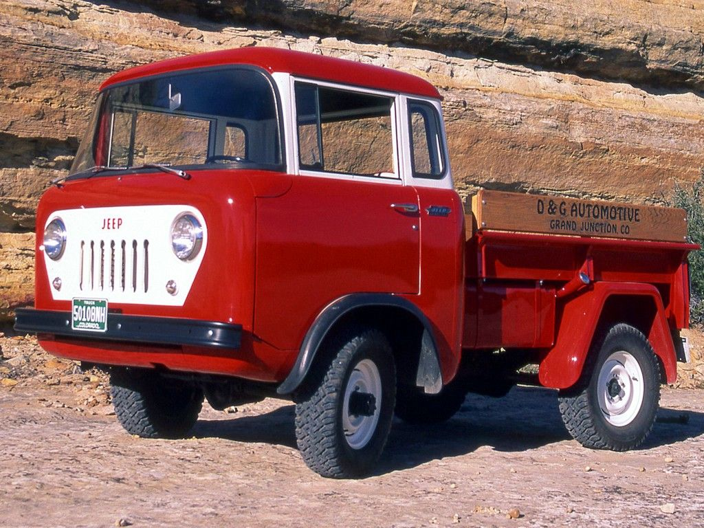 Classic Willys FC-150 (Forward Control) Jeep 4x4 in Buckeye Red.