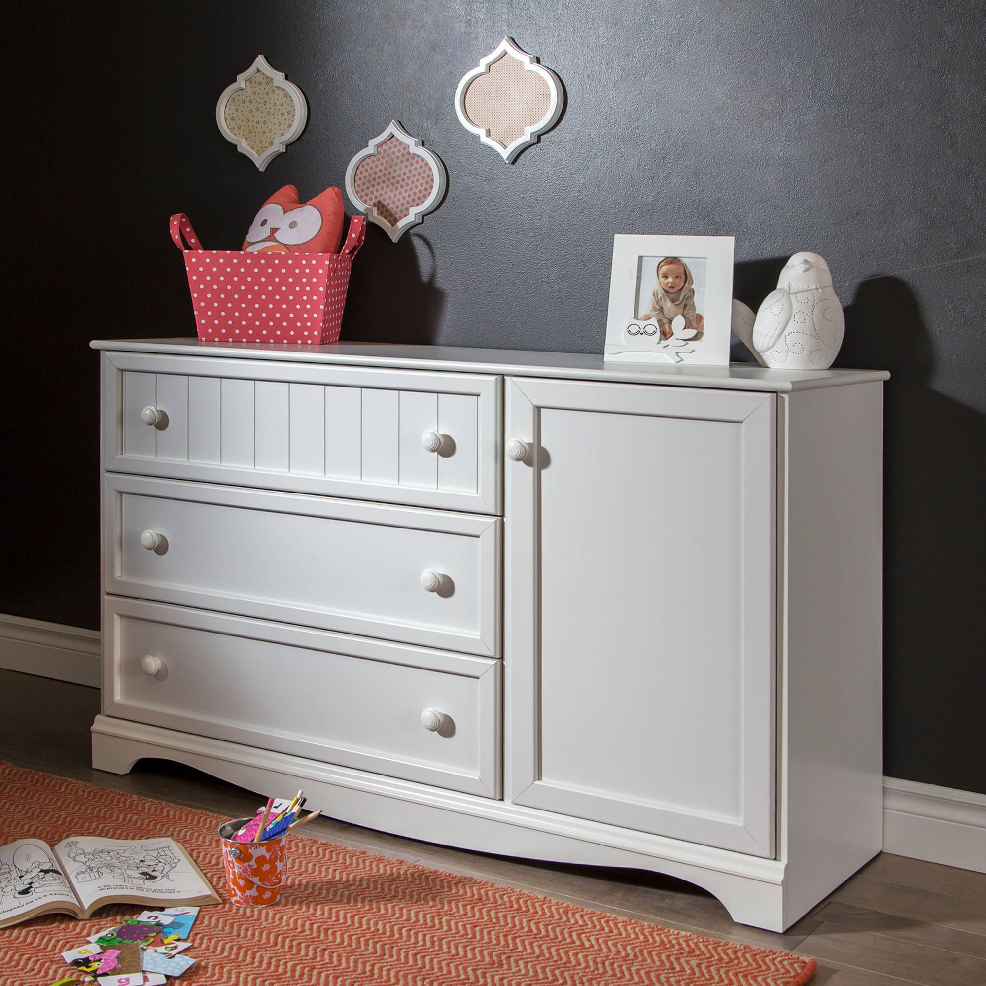 South Shore Savannah 3 Drawer Dresser With Door Multiple Finishes Walmart Com Dresser Drawers Daybed With Storage Kidsroom Decor [ 2000 x 2000 Pixel ]