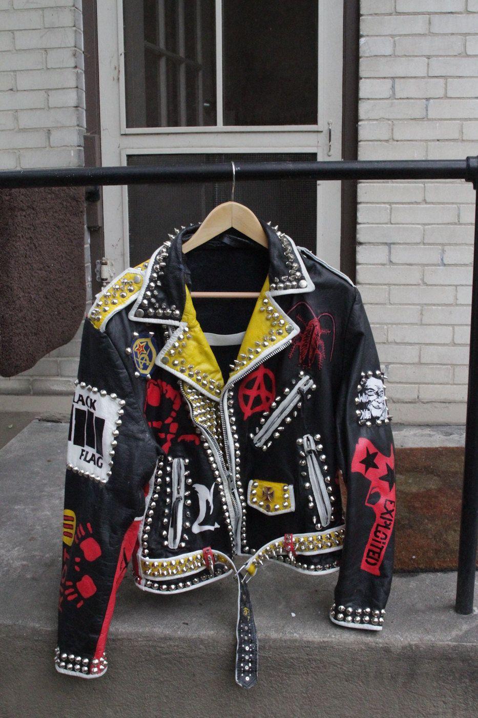 Punk rock jacket | Etsy in 2019 | Punk jackets, Custom ...