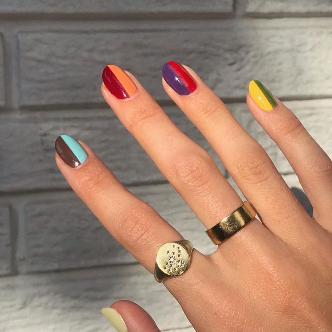 Refinery29 Uk On Instagram 1 3 Which Colour Blocking Nail Art Is Your Fave In 2020 Nail Art Designs Summer Nail Trends Spring Nail Art