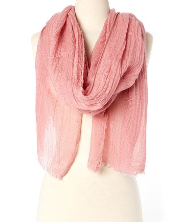 Another great find on #zulily! Blush Crinkle Scarf #zulilyfinds