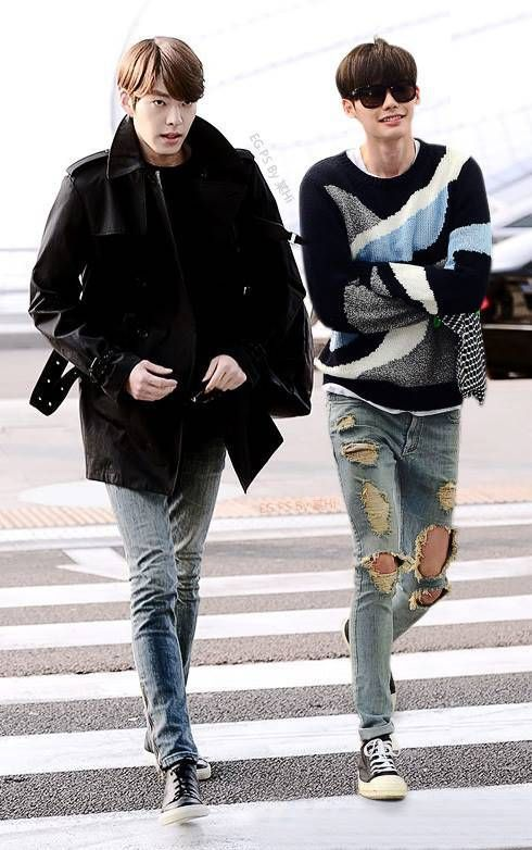 Kim Woo Bin and Lee Jong Suk stylin'. #ManCrushMonday