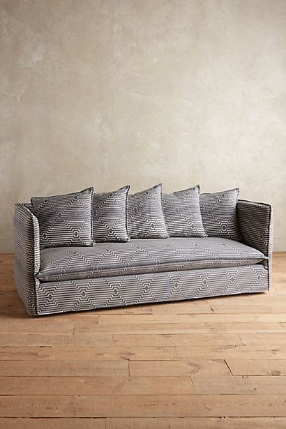 Striped Carlier Slipcover Sofa Anthropologie Sofa Sofa