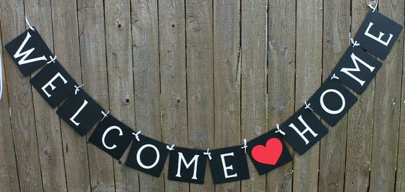 Welcome Home Banner, Welcome Baby, Military Welcome Home, Greeting ...