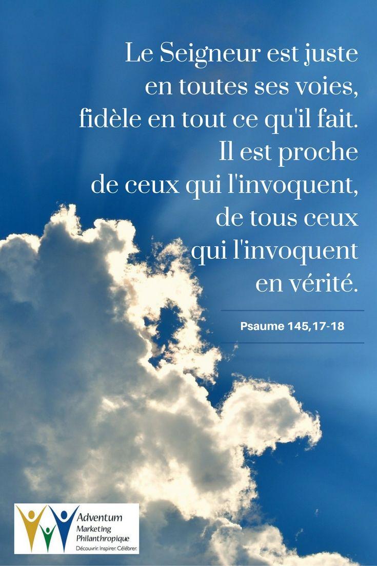 24 août 2016 – Psaume 145,17-18
