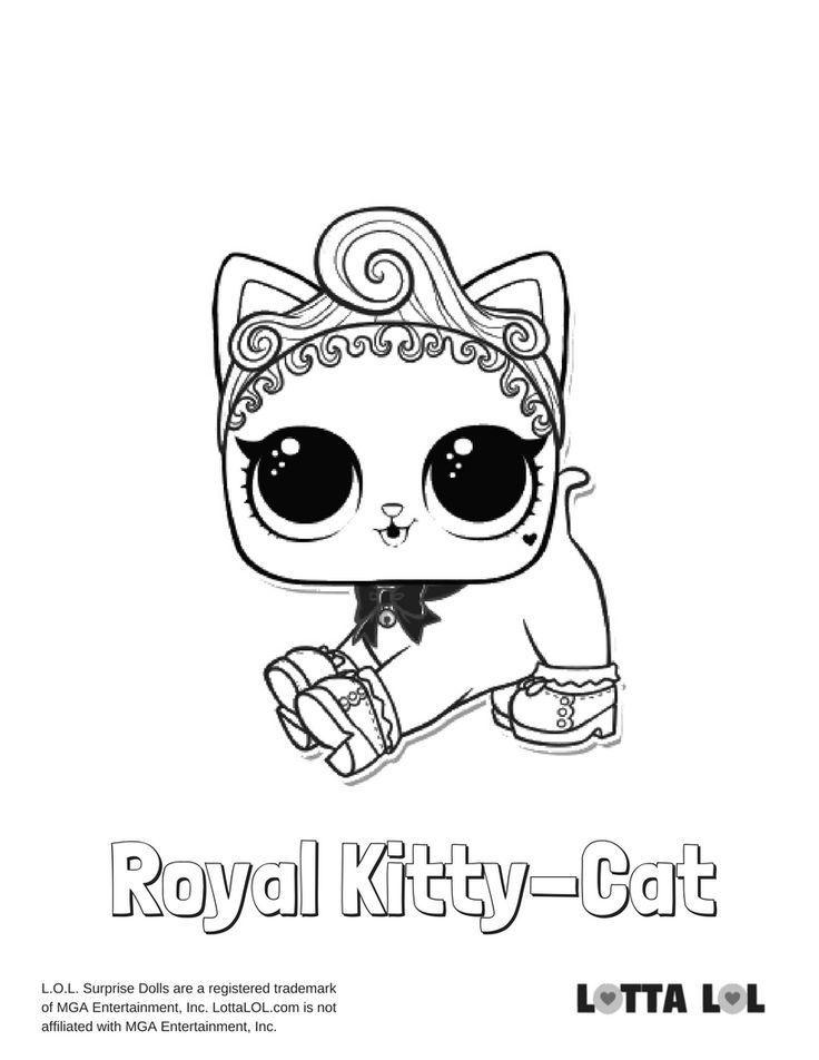 royal kittycat malvorlagen lotta lol  lol surprise