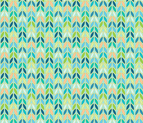 peacock knit fabric by designed_by_debby on Spoonflower - custom fabric