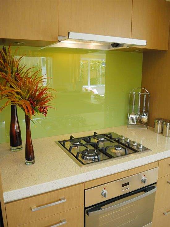 Amazing Painted Glass Backsplash Ideas Part - 8: Back-painted Glass Backsplash