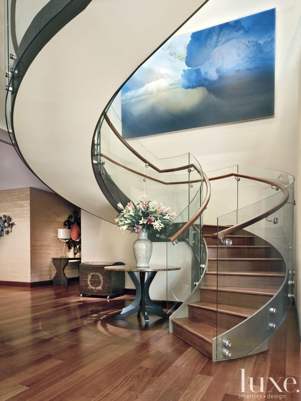 Stunning Staircase #treppe #treppenbau #stahltreppen #holztreppen  #holzgeländer #architektur #interior Repinned By #smgtreppen Www.smg Treppen .de