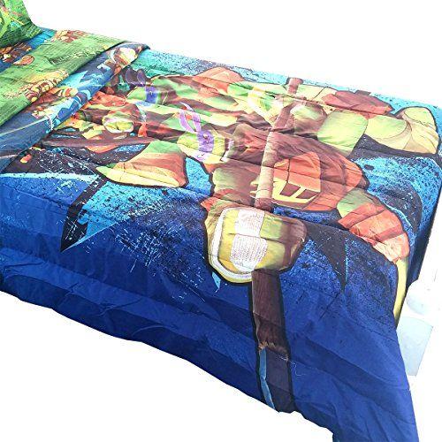 Teenage Mutant Ninja Turtles Twin Full Comforter Tmnt Bedding Reversible Viacom International Http Www Kids Comforters Childrens Comforters Tmnt Bedding