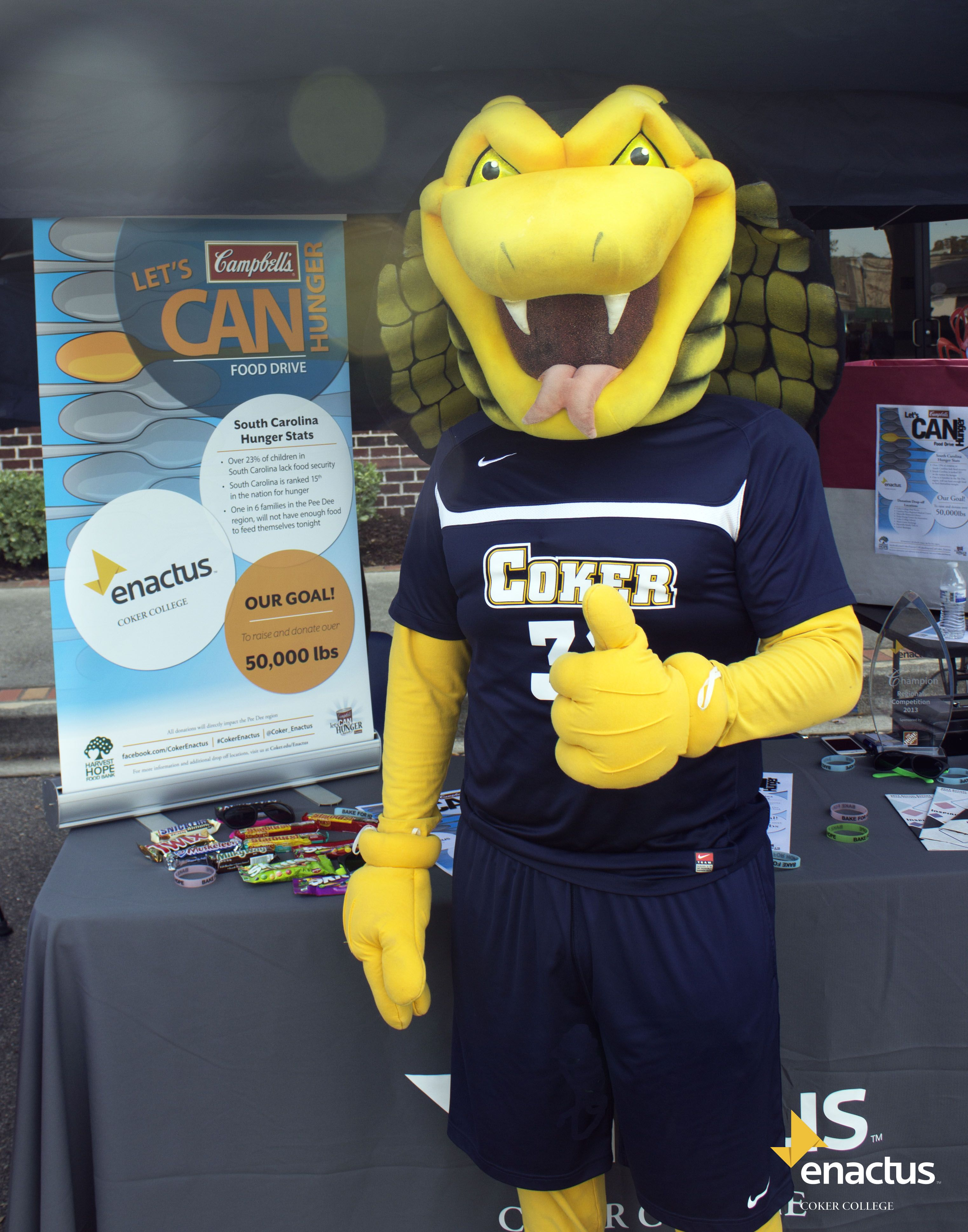 Coker S Mascot Striker Showed His Support At The Hartsville Marketplace On Saturday The 9 Haha Funny Fun Funny