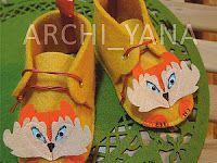 Как сшить фетровые ботиночки Мистер Лис для малыша