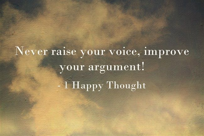 Always improve your argument