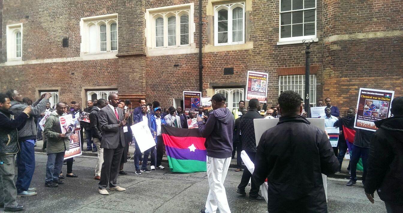 محمد علي ـ لندنمظاهرة حاشدة بلندن تدين جرائم النظام