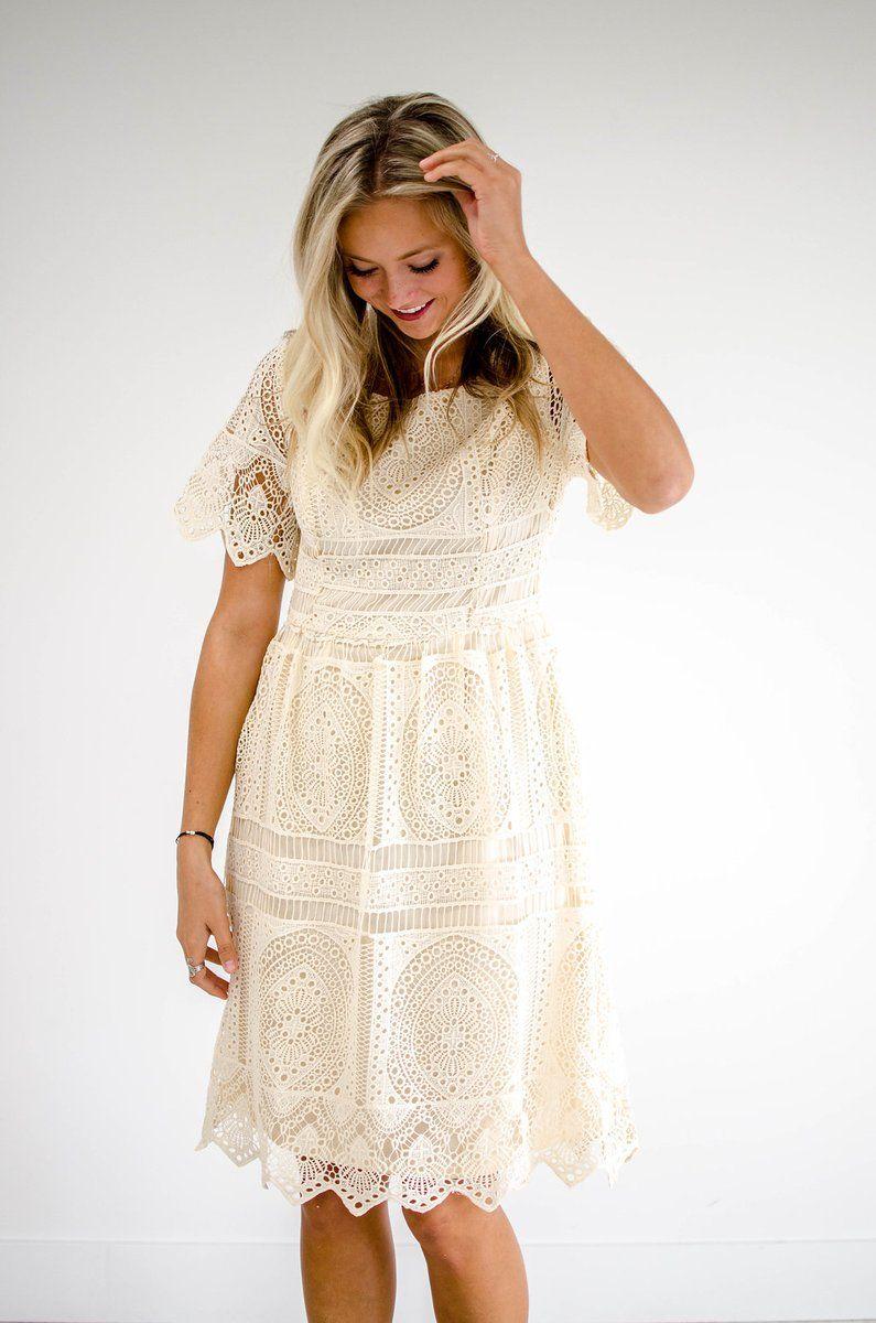 Gatsby Lace Dress in Cream  ce6a986fe