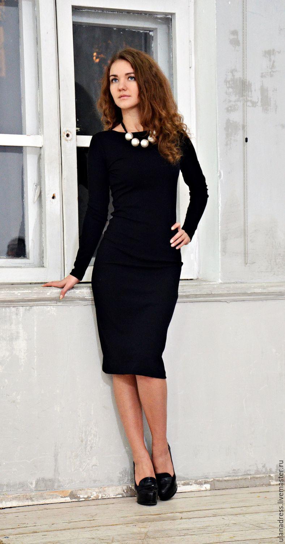 0077899f284 Купить Платье трикотажное (черное) - платье
