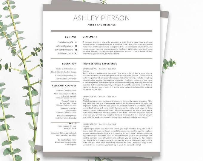 Unique Cover Letter Unique Professional And Easy To Use Resume Templatescursory