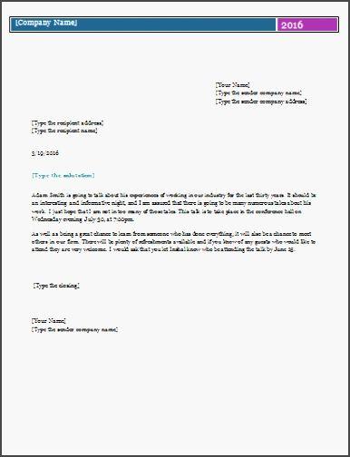 pin on invitation letter informal